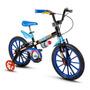Bicicleta Masculina Iantil Nathor Tech Boys Aro 16 Freios V-brakes Cor Preto/azul/azul-celeste Original