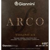 Encordado Set Completo Violín 4/4 Giannini Aluminio Steel