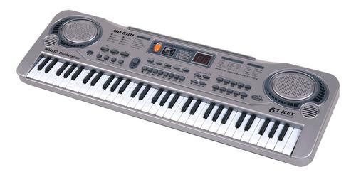 Piano Electrónico Con Micrófono Teclado Infantil 61 Teclas