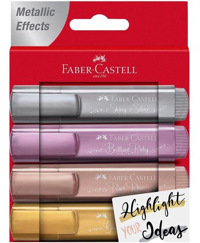 Faber-castell 28917 Resaltadores Metalizados X4