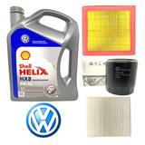 Kit Cambio De Aceite Vw Polo Msi Shell Hx8 5w40 + 3 Filtros