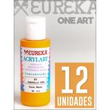 Acrilico Eureka Profesional 60ml X 12 Colores Comunes