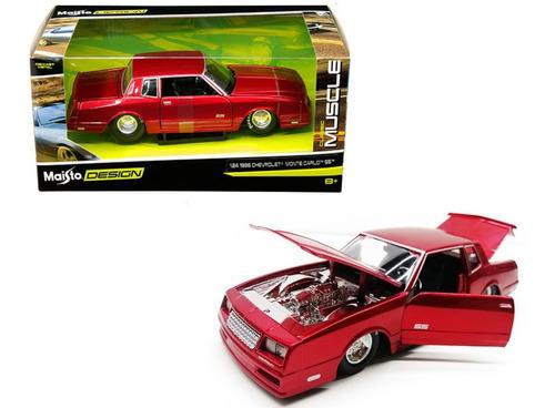 Chevrolet Monte Carlo Ss 1986 1:24 Maisto Design Ciliegia