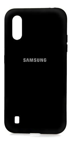 Funda Silicona Samsung Galaxy A01, A01 Core + Mica 9d
