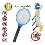 Raqueta Mata Moscas E Insectos Eléctrica Recargable 220v