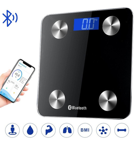 Báscula De Baño Bluetooth Electrónica Inteligente