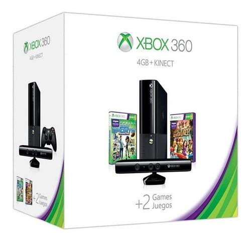 Xbox 360 4gb + 250gb + Kinect + 2 Controles + Juegos