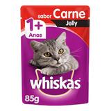 Alimento Whiskas 1+ Para Gato Adulto Sabor Carne Jelly Em Sachê De 85g