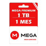 Mega Premium 1 Tb 1024 Gb 30 Días, Envió Inmediato.