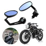 Espejos Cafe Racer Sportbike Custom Bobber Brat Agarre Metal