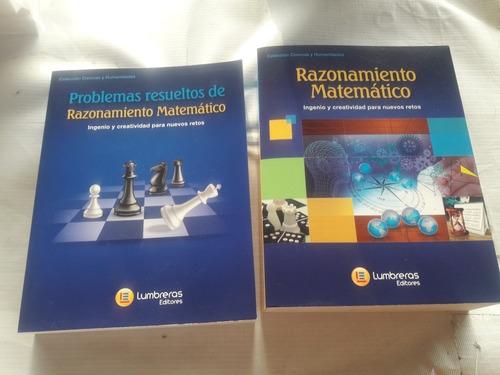 Libro Razonamiento Matemático Y Problemas Resuelto Lumbreras