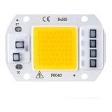 Chip Led Cob 50w 220v Directo Driver Incluido Blanco Frio