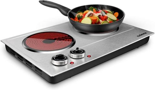 Cocina Electrica Cusimax Infrarojo 2 Hornillas 1800w
