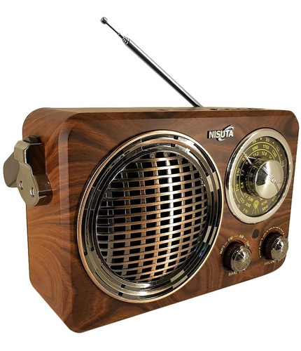 Radio Portátil Bluetooth Vintage Nisuta Retro Recargable Usb