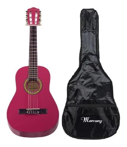 Guitarra Acustica Rosada Para Niña, Mercury / Abregoaudio