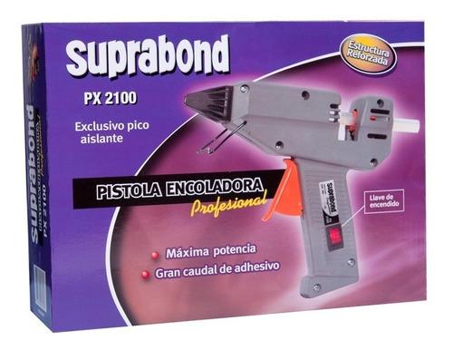 Pistola Encoladora Silicona Suprabond Profesional Px2100 +1l