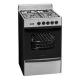 Cocina Longvie Standard 13331 Gas Natural 4 Hornallas  Acero Inoxidable 220v Puerta  Con Visor 70l