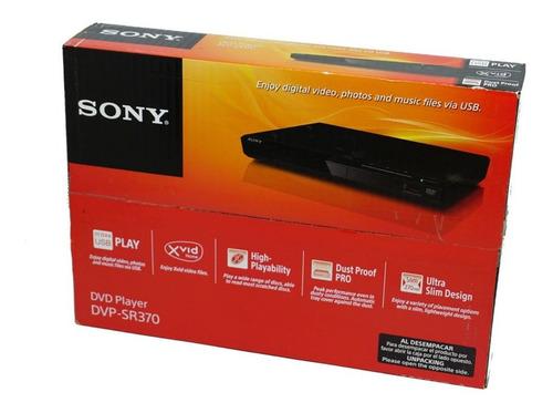 Dvd Player Sony Dvp-sr370  Usb Frontal Lacrado Novo