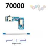 Botão Power Reset Com Flat Flex Slim Ps2 Placa Model 70000
