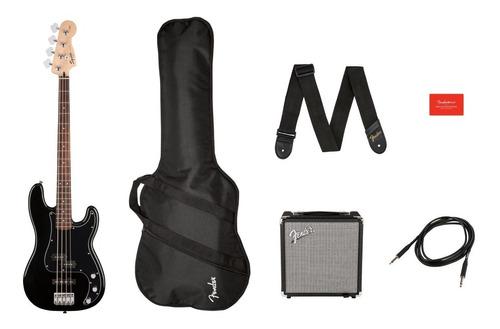 Paquete De Bajo Fender Pj Bass Black 0371982006