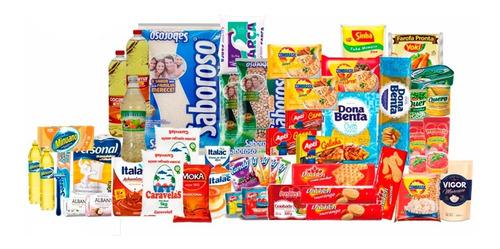 Cesta Básica De Alimentos + Higiene + Limpeza (50 Itens)
