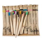 Cepillo De Dientes Dental Bambú Ecológico Empaque Kraft Bio