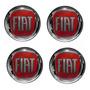 Emblema Fiat Vermelho Adesivo Calota Roda Resinado 48mm 4pçs Original
