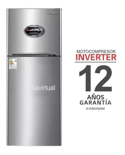 Heladera James Inverter J501 Inox. Gtía. 12 Años