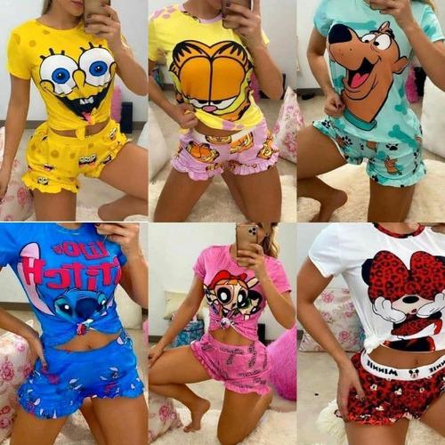 Pijama Corto Stich Chicas Super Poderosas