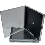 Estuche Acrílico Bandeja Negra 10,4mm Cd/dvd X 10 Unidades