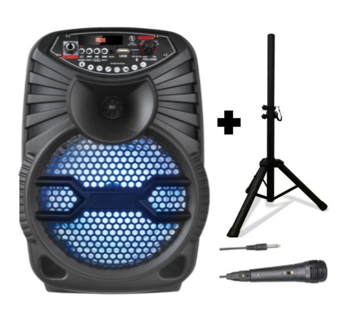 Cabina De Sonido Recargable  Bluetooth  Aux Parlante Audio