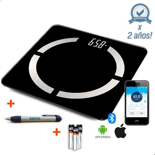 Balanza Digital Baño 180kg Para Personas Bluetooth + Regalo