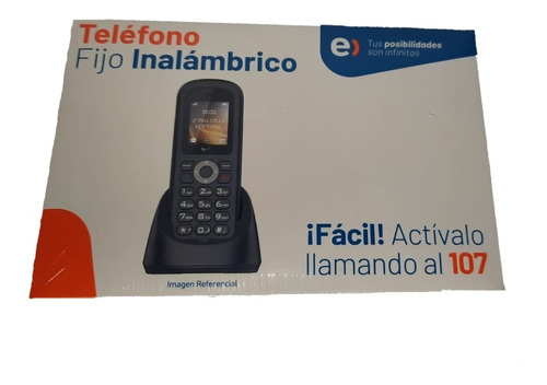 Teléfono Fijo E Inalámbrico Entel Prepago/negro.