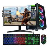Pc Torre Gamer Intel Ci5 9400f B365 Ssd 240g Ram 8gb Mon 22
