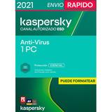 Kaspersky Antivirus 1 Pc 1 Año Licencia Original