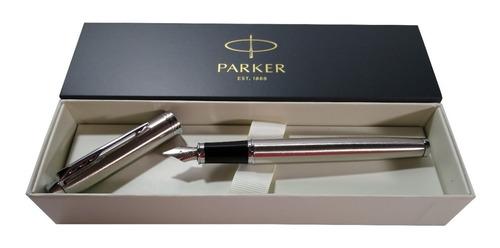 Pluma Parker Im Essential Stainless Steel Ct Trazo Fino