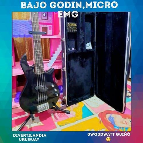 Oportunidad!! Bajo Godin Con Micros Activos Emg Y Estuche