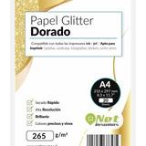 Papel Fotográfico Glitter Glossy Dorado 20h A4 265gr