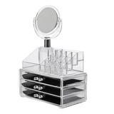 Caja Organizador Cosmeticos Espejo Cosmetiqueros Maquillaje
