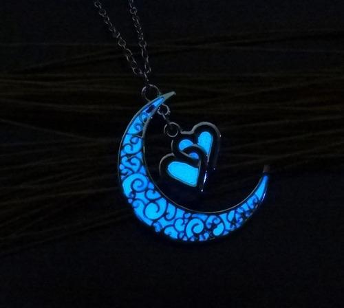 Collar Corazon Amor Luminoso Glow Mujer Potter Regalo Madre