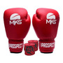 Kit Boxe Muay Thai Luva Mks New Prospect Vermelha + Banda 3m Original