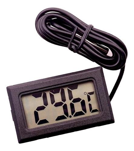 Termômetro Digital Lcd Com Fio Aquário Chocadeira Terrário