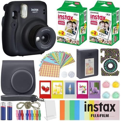Cámara Instax Mini 11 + Funda + Accesorios + 40 Fotos