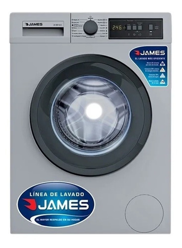 Lavarropas James 6 Kg Lr1007 1000 Rpm Silver Inox Gtía James