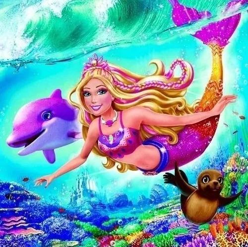Kit Imprimible Barbie Sirena Fiesta 3x1