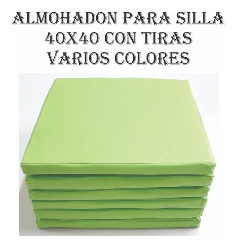 Pack 8 Almohadónes Para Sillas 40x40 Con Tiras Envió Gratis