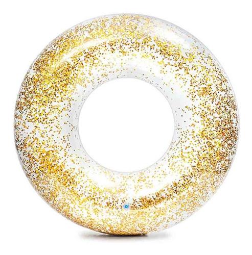 Flotador Inflable Dona Con Diamantita Glitter 56274np Intex