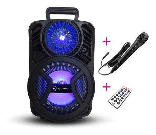 Parlante Portátil Bluetooth Inalambrico Led Usb + Microfono