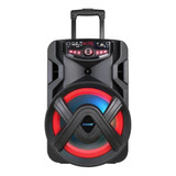 Caixa De Som Amvox Aca 401 Tsunami Portátil Com Bluetooth Preta 127v/220v