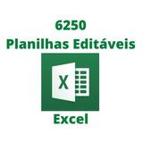 6250 Planilhas Excel 100% Editável + Apostilas E Tutoriais